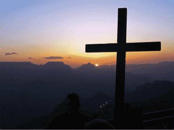 The Cross at sunset