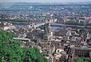 View of Liège, taken from Diocesan website